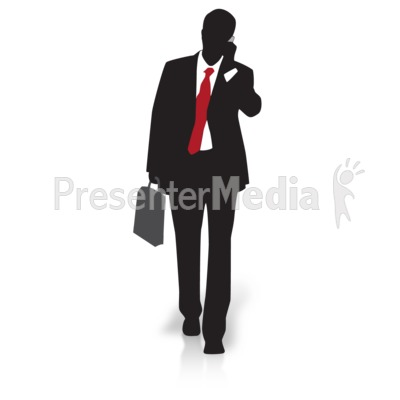 Businessman clipart silhouette. Walking presentation great for