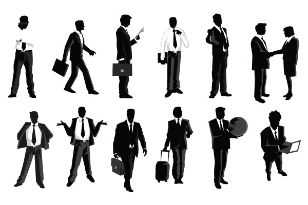 Free . Businessman clipart silhouette