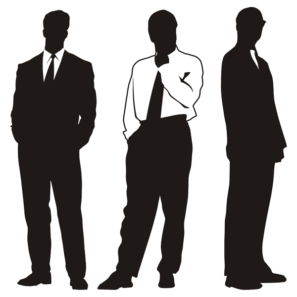 Free silhouettes of businessman. Male clipart corporate man