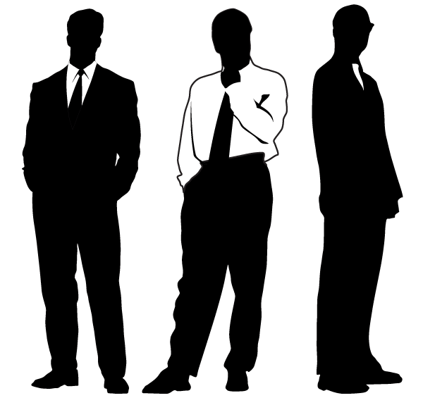 Vector silhouettes free vectors. Businessman clipart silhouette