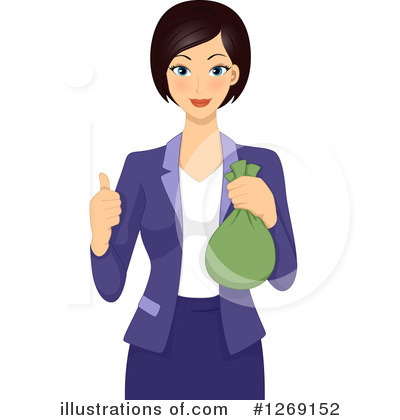 Businesswoman clipart. Illustration by bnp design