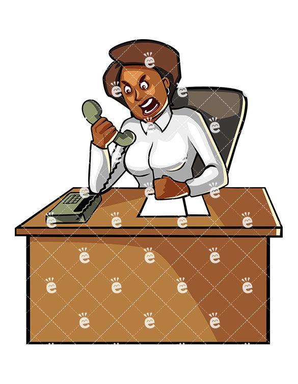 best black businesswoman. Character clipart cartoon