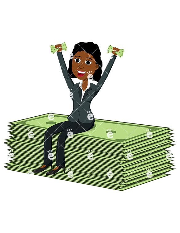 A black woman seated. Businesswoman clipart african american