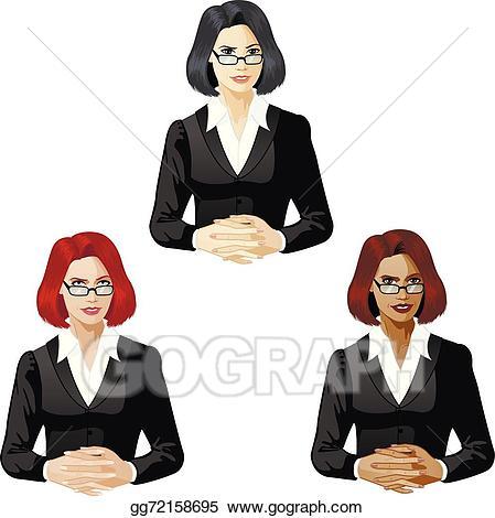 Clip art vector support. Businesswoman clipart black female lawyer