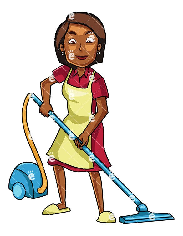 Businesswoman clipart black female lawyer. A woman using canister
