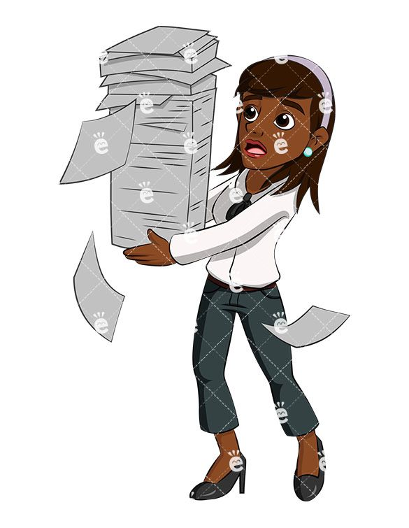 A juggling stack of. Businesswoman clipart black female lawyer