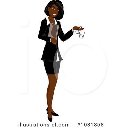 Illustration by pams royaltyfree. Businesswoman clipart black female lawyer