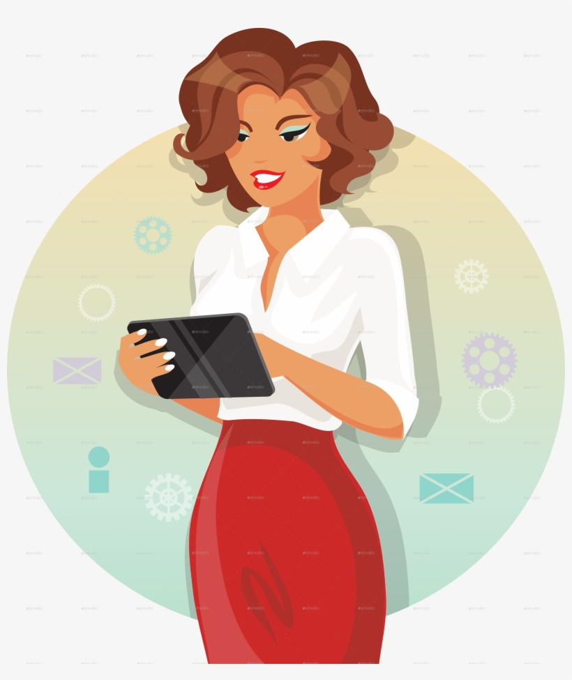 Businesswoman clipart buisness woman. Png download girl free