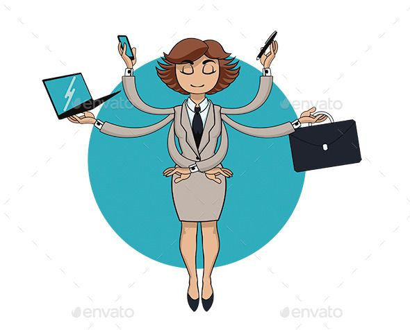 Businesswoman clipart busy. Elegant fice lady with
