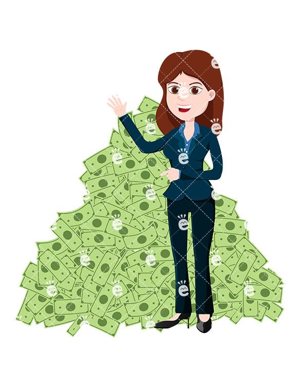 Businesswoman clipart female boss. A woman standing in