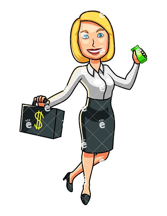 A formally dressed holding. Briefcase clipart corporate woman