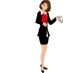 Businesswoman panda free images. Professional clipart buisnesswoman