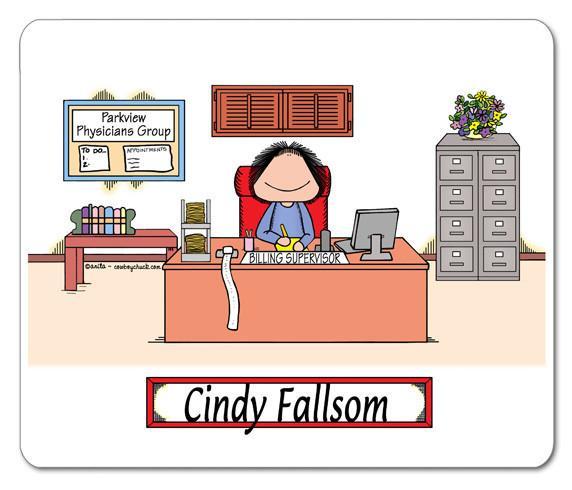 Businesswoman clipart female supervisor. Businessman mouse pad personalized