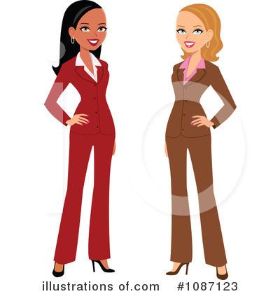 Woman illustration by monica. Female clipart business suit