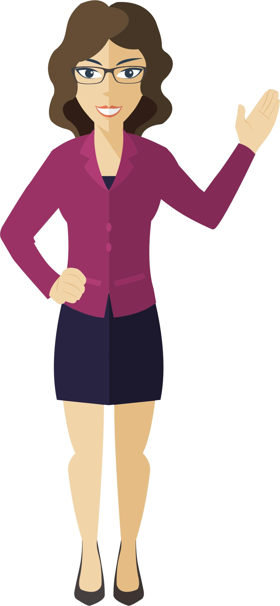 Businesswoman clipart person. Flat shaded business woman
