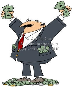 Person stock photography acclaim. Businesswoman clipart rich