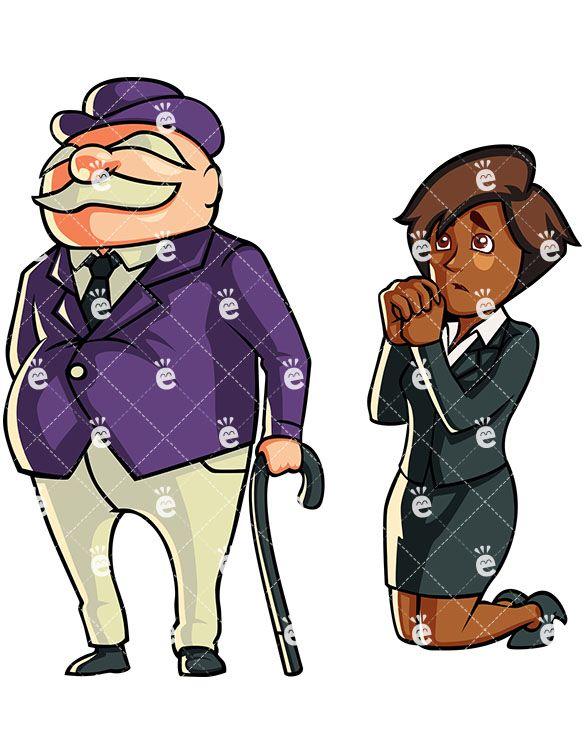 Businesswoman clipart rich. A black asking banker