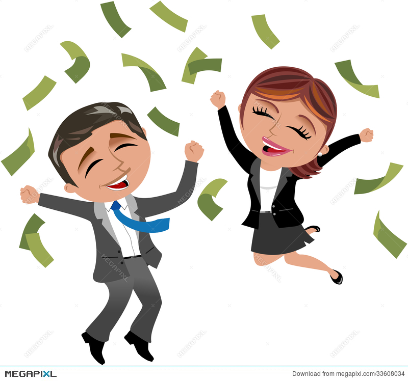 Successful business woman and. Businesswoman clipart rich