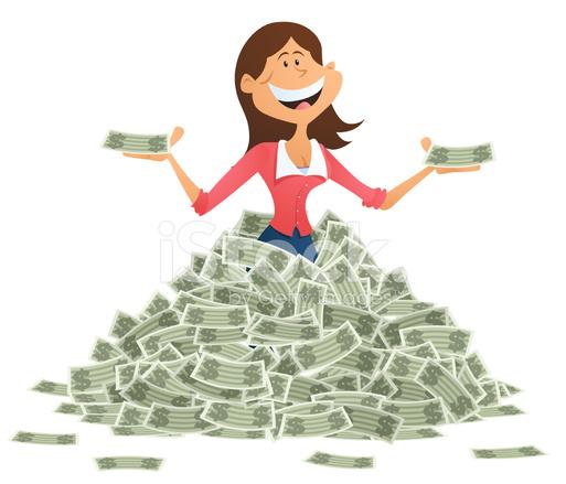 Businesswoman clipart rich. Stock vector freeimages com