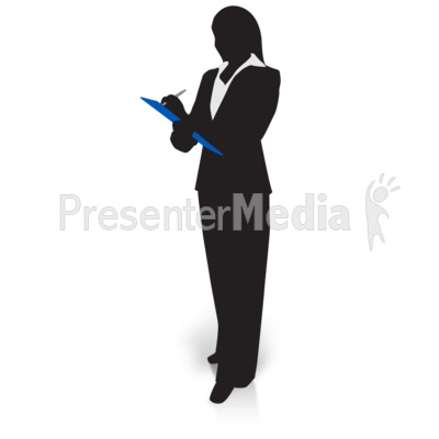 Businesswoman clipart silhouette. Clipboard business and finance