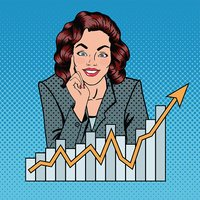 Businesswoman clipart success woman. Successful business busineswoman and