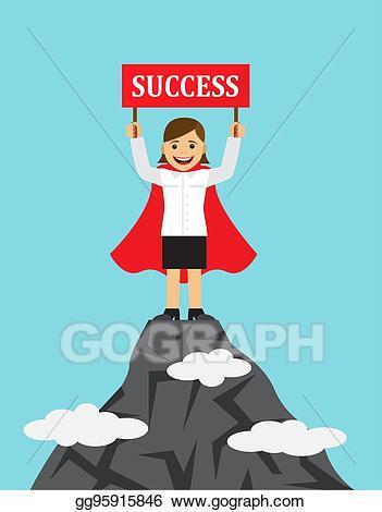 Clip art vector successful. Businesswoman clipart success woman