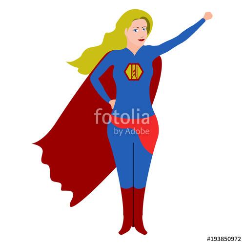 Cartoon character stock image. Businesswoman clipart superwoman