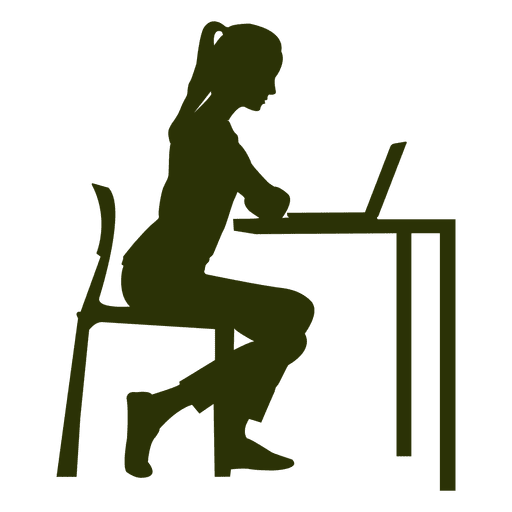 Working on desk png. Businesswoman clipart transparent