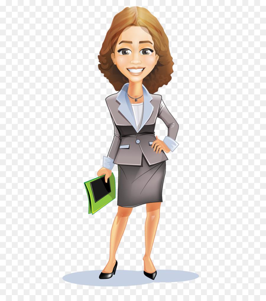 Businesswoman clipart transparent. Businessperson cartoon clip art