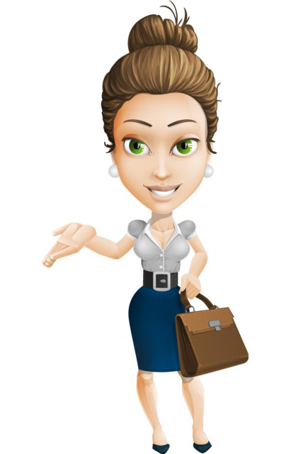 Businesswoman clipart woman character. A collection for every