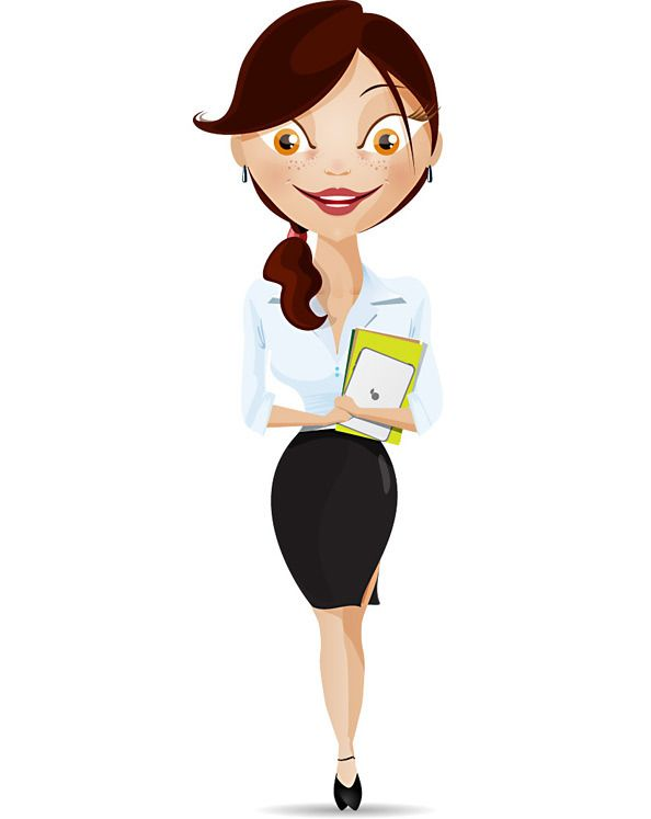 Businesswoman clipart woman character. Pin on free vectors