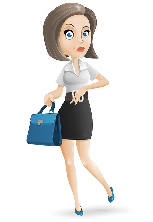Free vector characters design. Businesswoman clipart woman character