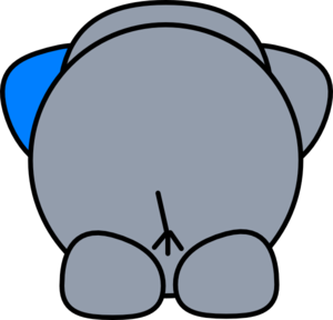 Elephant clip art at. Butt clipart
