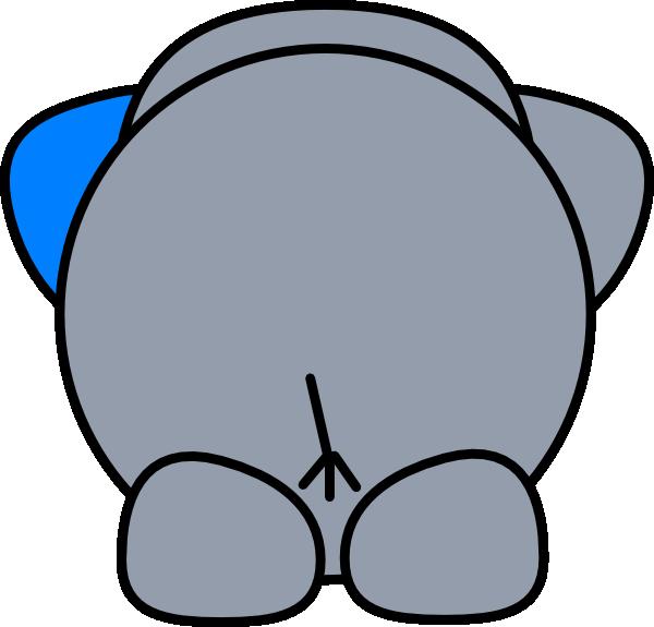 Elephant butt clip art. Pig clipart bum