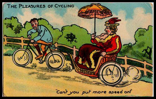 Butt clipart bike. C comic postcard cycling