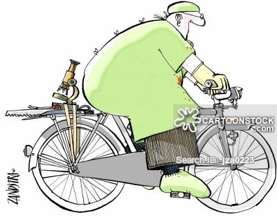 Riding cartoons and comics. Butt clipart bike