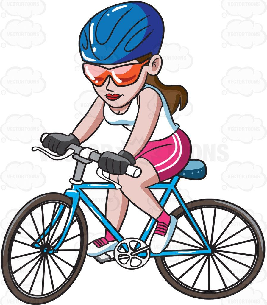 A woman riding mountain. Butt clipart bike