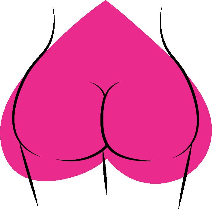 Butt clipart bottom. Pear shaped butts massk