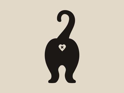 Butt clipart cat. Transfer sticker by caseyillustrates