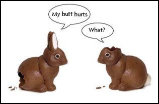 Chocolate easter bunnies my. Butt clipart hurt