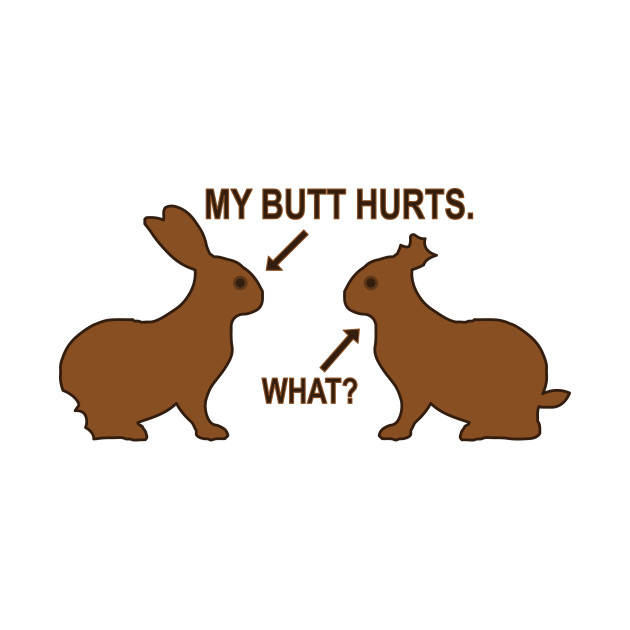 Butt clipart hurt. My hurts easter bunny