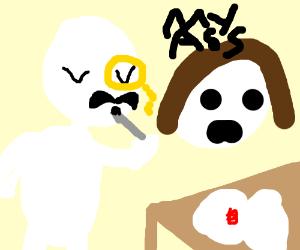 Butt clipart ladys. Guy eats a lady