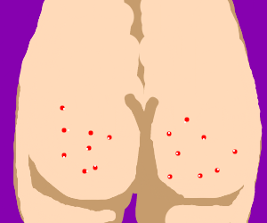 Drawing by crow in. Butt clipart pimple