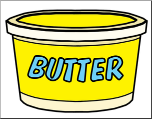 Butter clipart. Clip art food containers