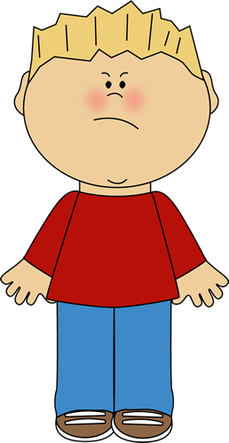 Chin clipart kid. Boy with an angry
