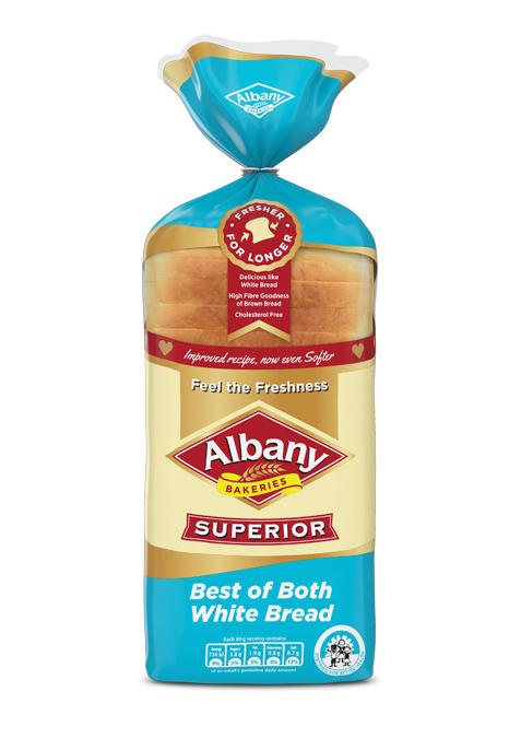 Albany bakeries superior white. Grains clipart brown bread