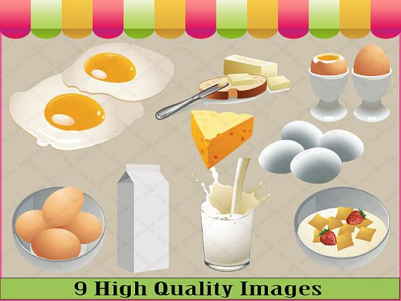 Breakfast food clip art. Cereal clipart cereal toast