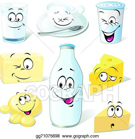 Eps illustration dairy product. Butter clipart cartoon