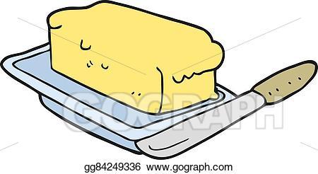 Butter clipart cartoon. Vector art eps gg