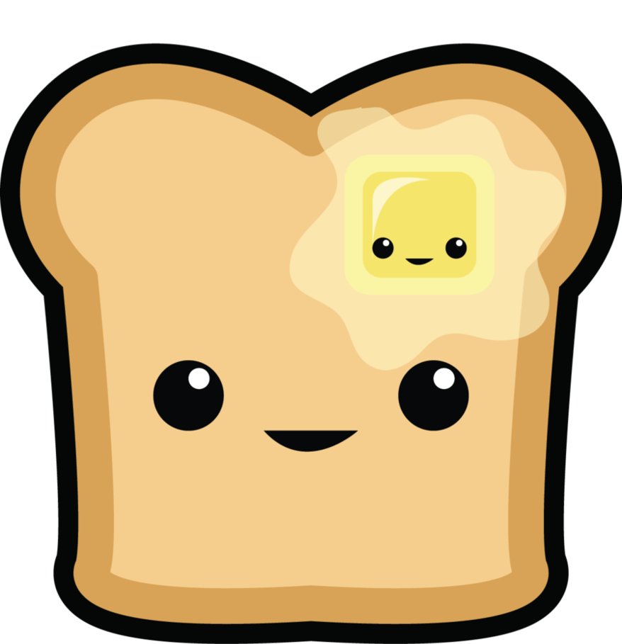 Happy toast by fai. Butter clipart cute